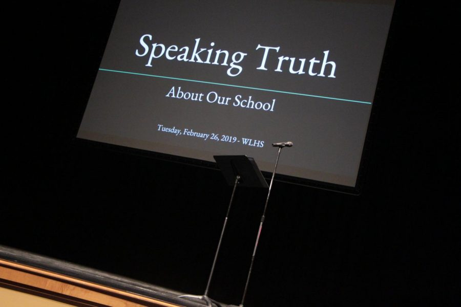 "The ""Speaking Truth"" forum, held Feb. 26, allows students to voice their experiences at West Linn High School."