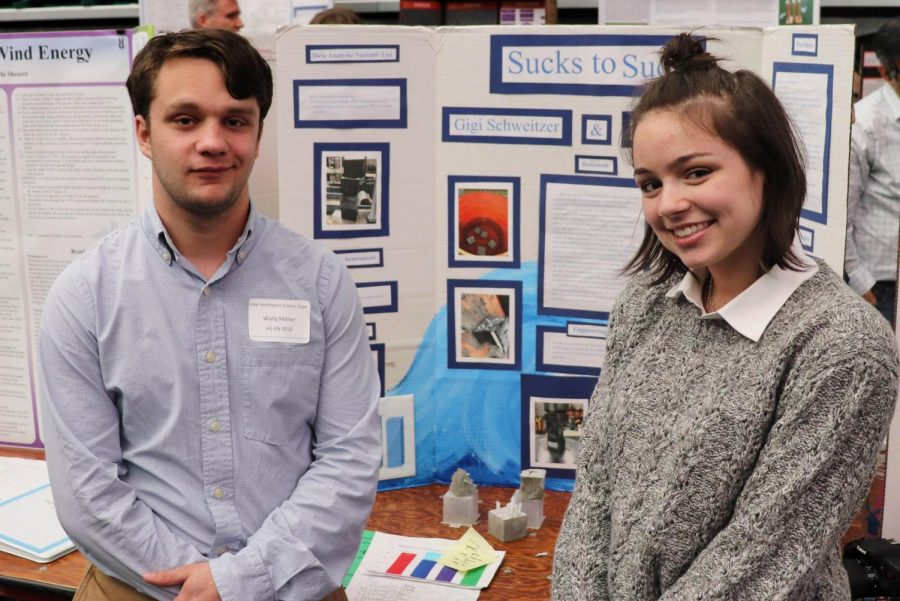 Save the sea turtles and take advice from Wally Milner and Gigi Schweitzer, both seniors. Their project, titled Sucks to suck: reducing plastic straw waste, won an Honorable Mention in the Energy and Environmental Engineering category.