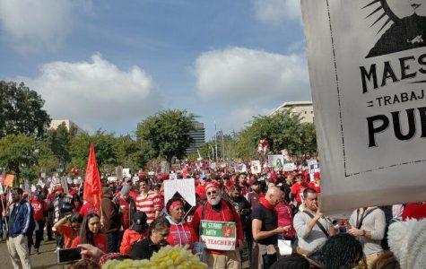 Los Angeles teachers rally at a recent strike.  Photo courtesy Christian Dixon