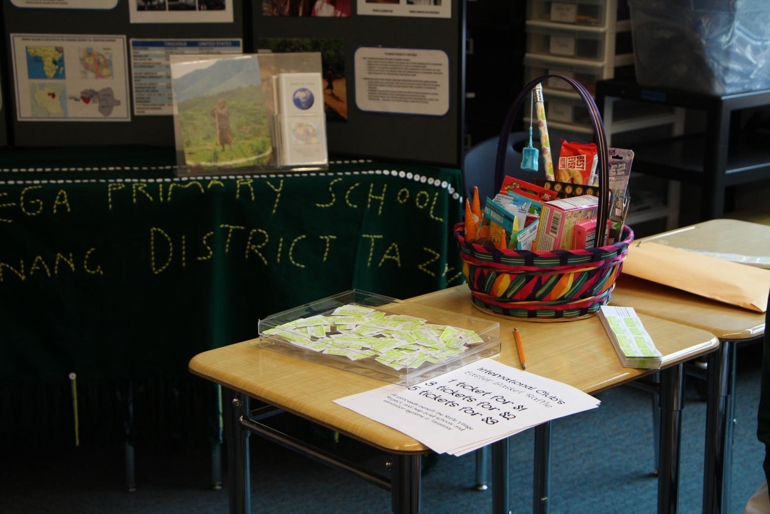 Students+had+the+opportunity+to+purchase+raffle+tickets+to+win+a+basket+of+school+supplies.+Crystal+Scott%2C+junior%2C+was+the+winner+of+the+basket.