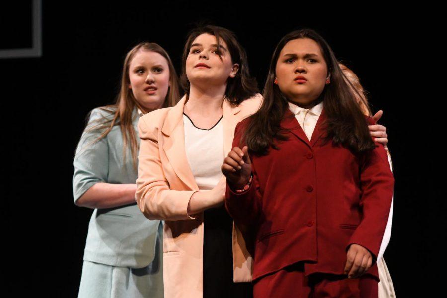 Kierra Koehn, Susie Walters and Katherine Mason in 'Trevor'