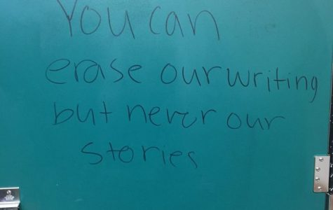 Graffiti found in girls bathroom lead to a conversation about sexual harassment and school policy for addressing it.