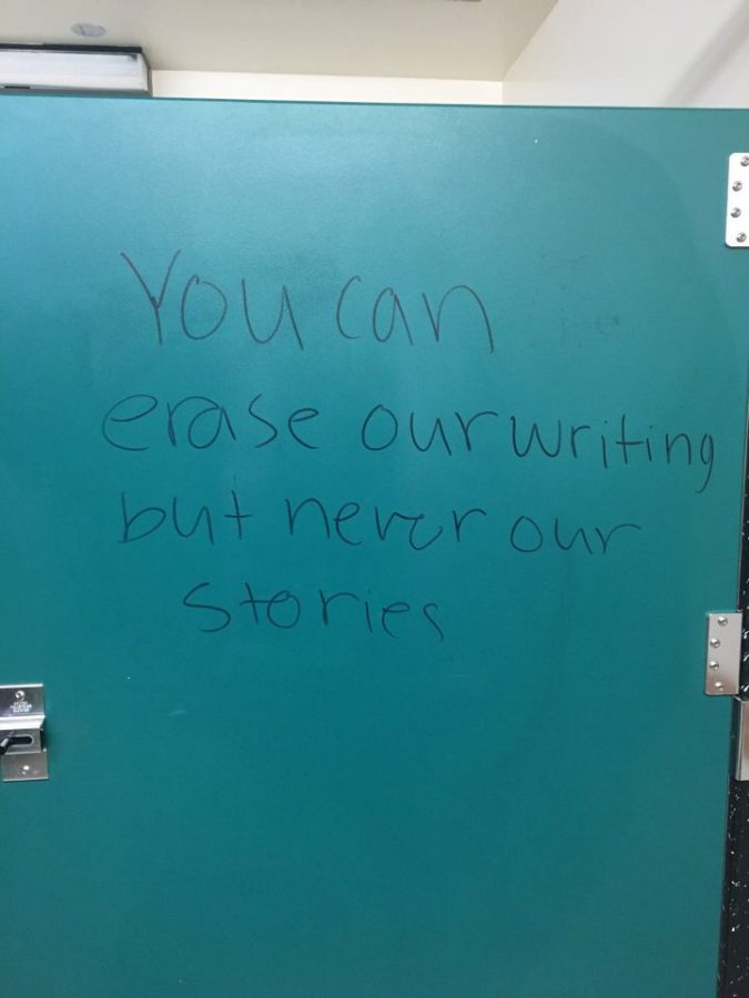 Graffiti incites conversation about school harassment policies