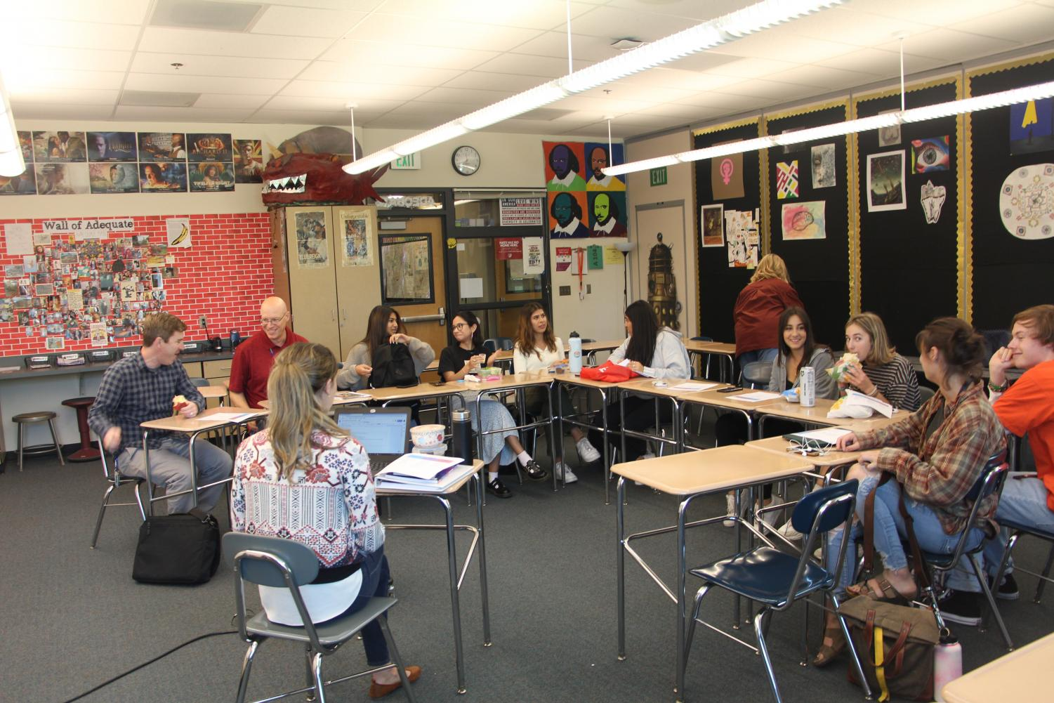 Students lead the first United Club meeting of the school year on Sept. 18.