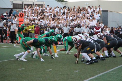 The West Linn lions during their first game against Central Catholic.