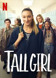 Movie cover for tall girl showcasing Jodi, her friends and her love interests.