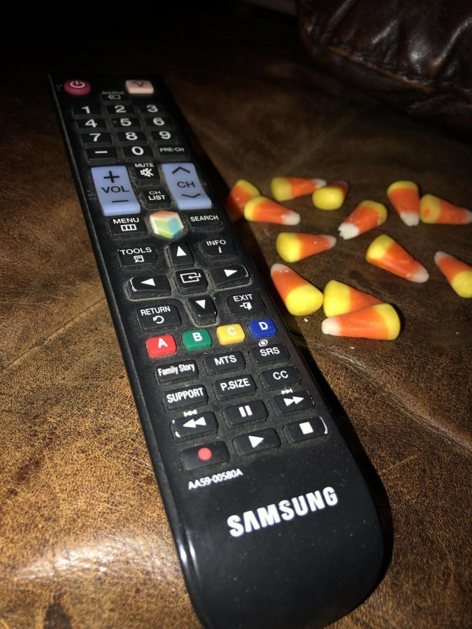 Candy+corn+and+a+classic+Halloween+movie+is+the+perfect+way+to+spend+the+spookiest+night+of+the+year.+