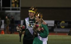 Homecoming king and queen, Averi Fels and Dane Cava.
