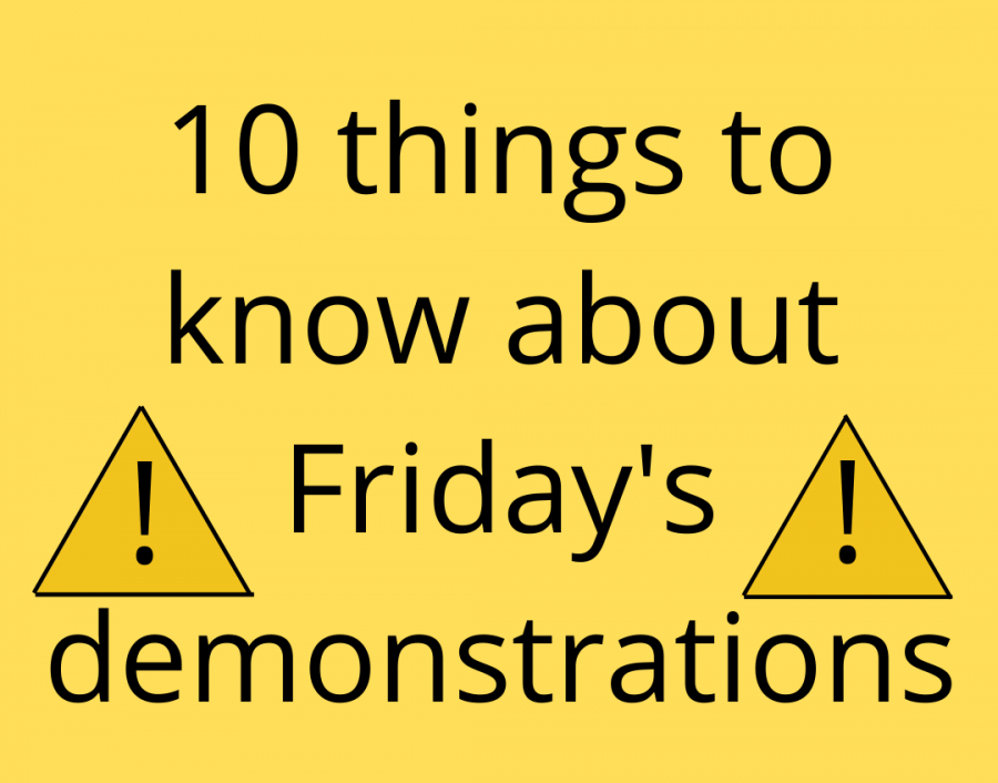 10+things+to+know+about+Friday%27s+demonstrations
