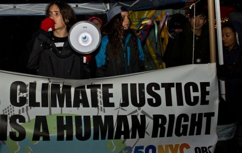 Climate activist Xiuhtezcatl Martinez protests during a march in New York City.