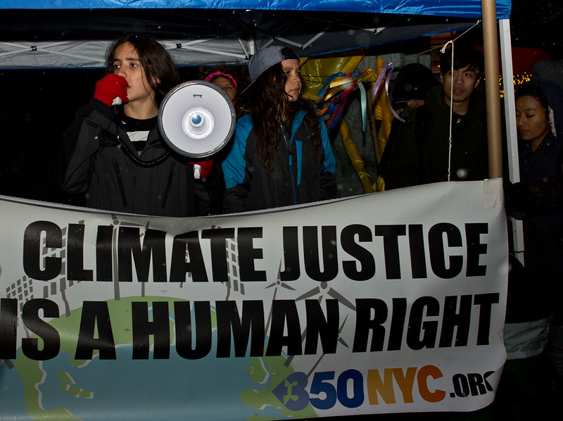 Climate+activist+Xiuhtezcatl+Martinez+protests+during+a+march+in+New+York+City.+