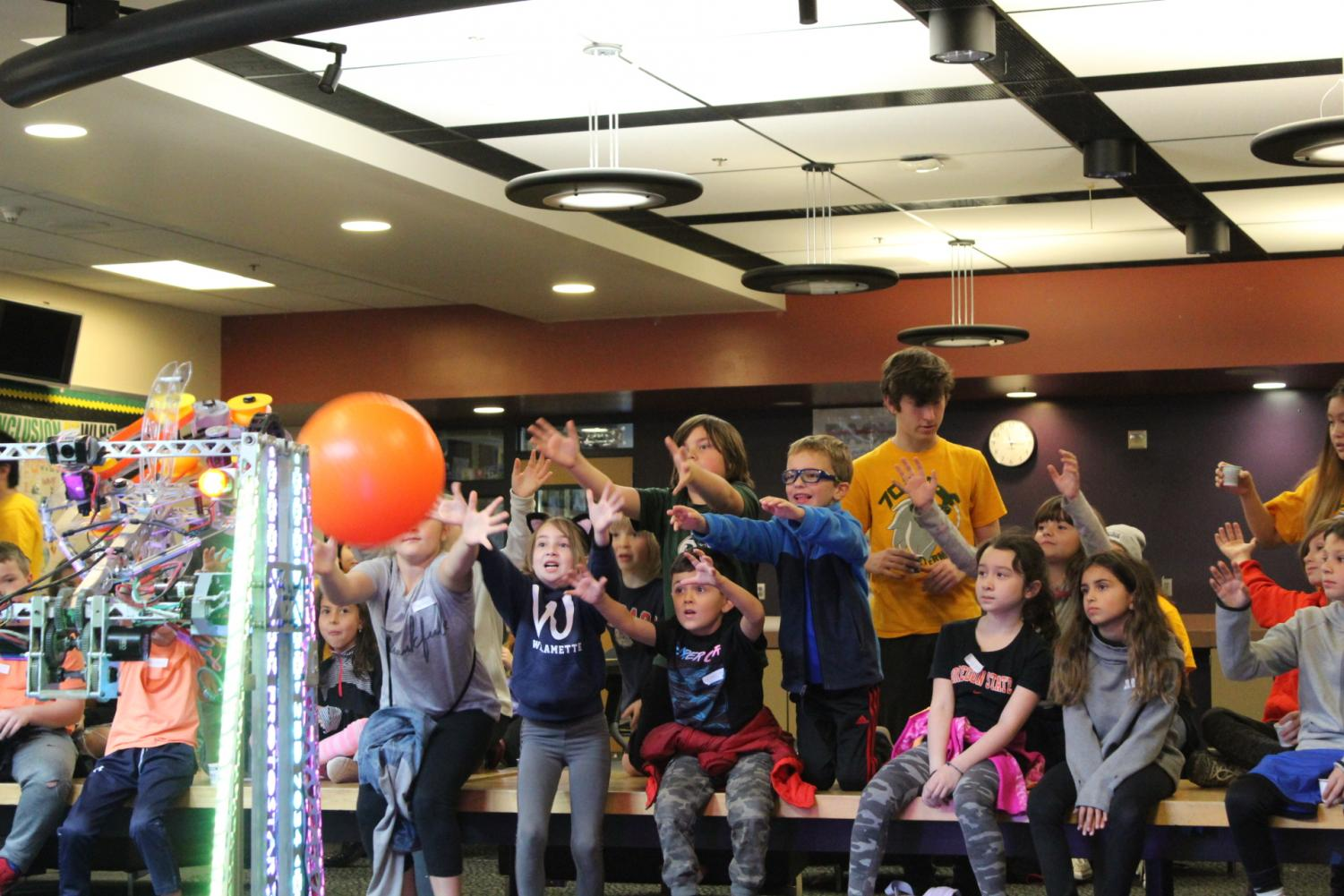 Students participate in STEM-related activities at the camp hosted by TBD in October.