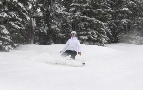 During a practice at Mt. Hood Meadows, Ashley Chon tests out her skills on the slops.