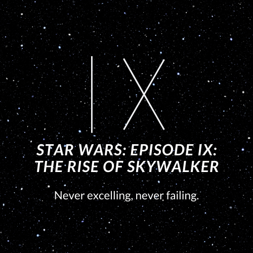 A minimalistic poster for the final installment of the Skywalker saga.