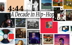 A collage of various hip-hop albums from the past 10 years.