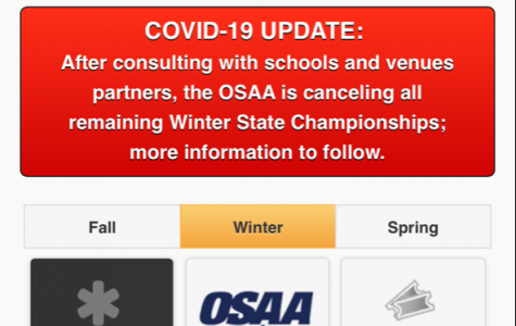 The OSAA has updated their website announcing the cancelation of all winter sports championships due to concerns of COVID-19 outbreaks.