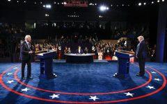 President Donald Trump and democratic candidate Joe Biden socially distanced at the last debate in Nashville.