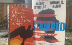 I Know Why the Caged Bird Sings  by Maya Angelou and Stamped by Ibram X. Kendi and Jason Reynolds. Photo by Helena Erdahl