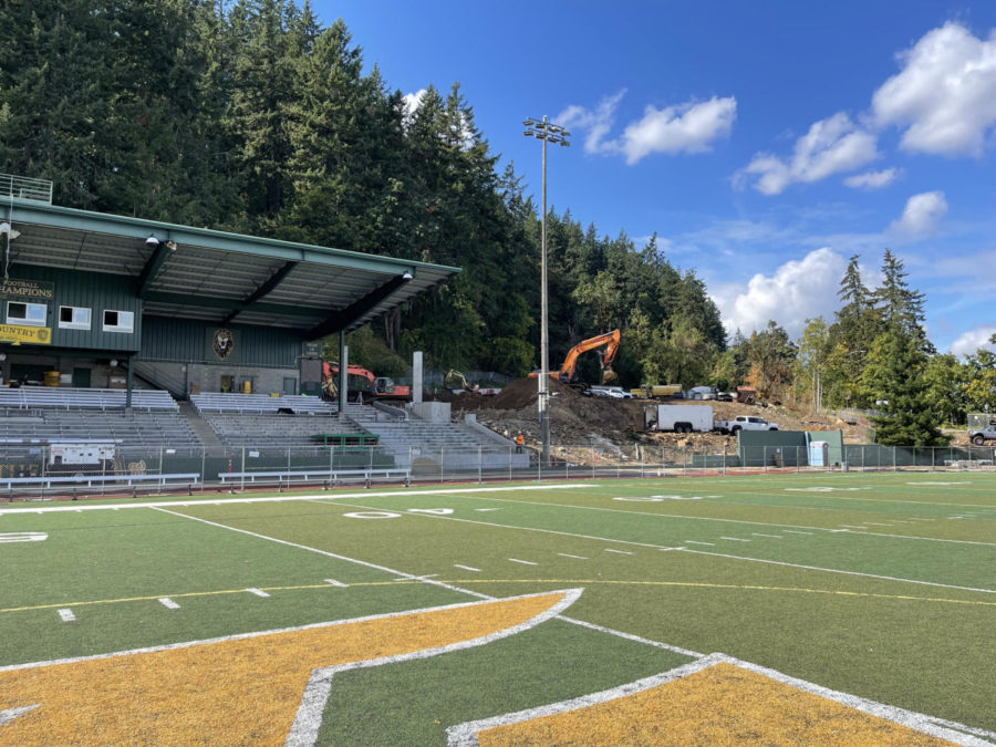 For the last three months the football stadium has been closed due to ongoing construction.