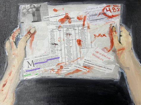 Stressful Night-original painting by Audrey Deinard