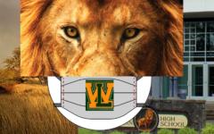 Mask Up Lions! -Original Adobe Photoshop artwork created by Kaelin Kehm